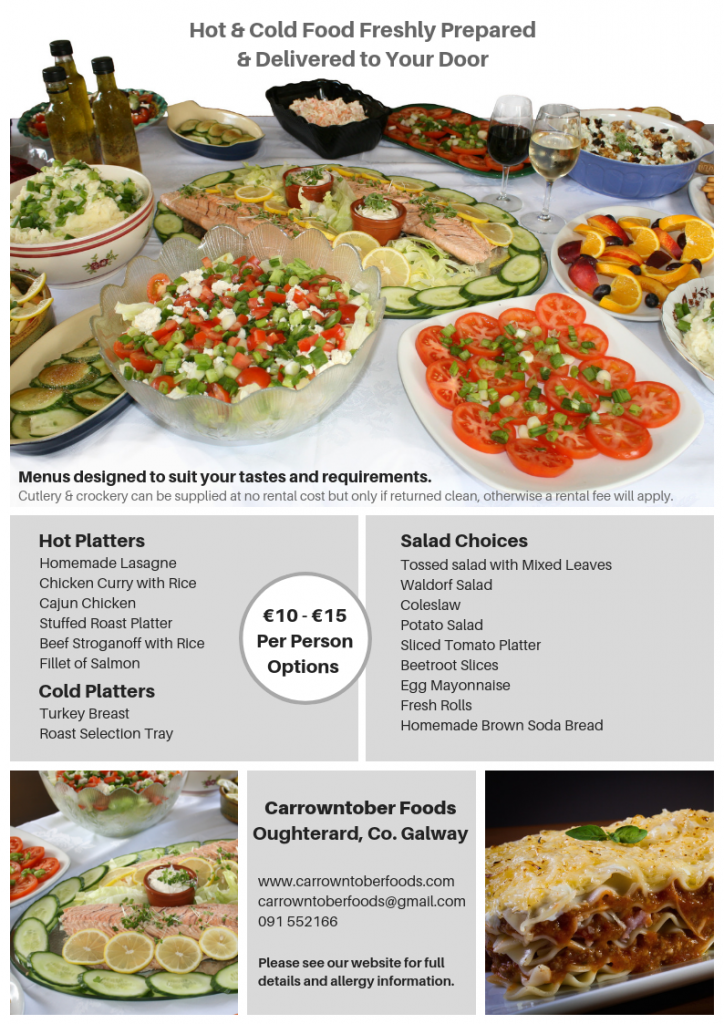 Carrowntober Foods Catering Menu
